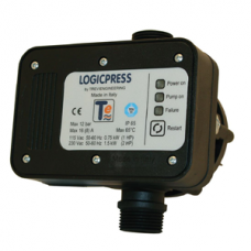 Регулятор давления с защитой от сухого хода Trevitech LOGICPRESS NERO